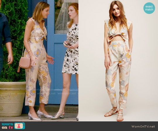 Free People Easy on the Eyes Jumpsuit worn by Cassandra (Georgie Flores) on Famous in Love