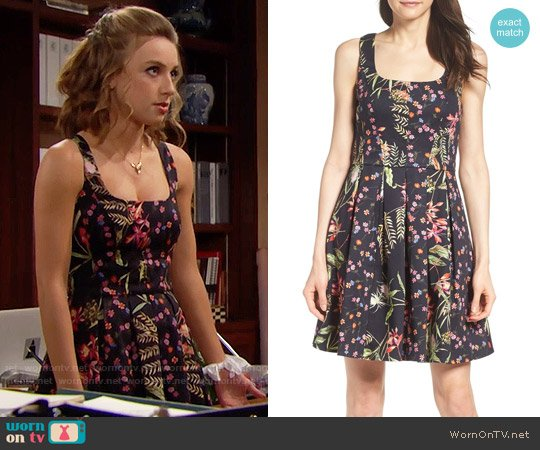 French Connection Bluhm & Botero Fit & Flare Dress worn by Courtney Grosbeck on The Bold & the Beautiful