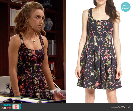 French Connection Bluhm & Botero Fit & Flare Dress worn by Coco Spectra (Courtney Grosbeck) on The Bold & the Beautiful