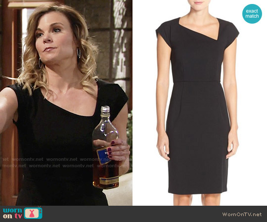 French Connection Nadine Sheath Dress worn by Gina Tognoni on The Young & the Restless