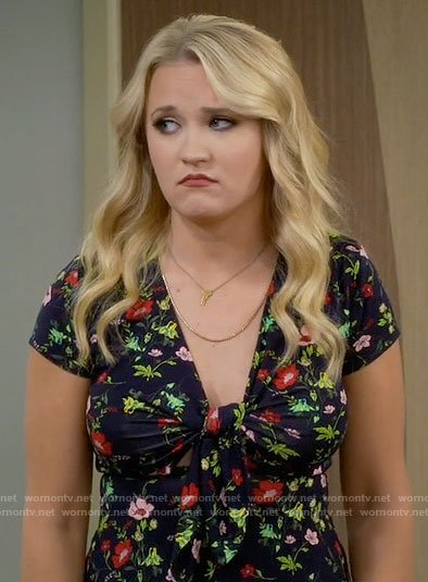 Gabi's floral tie front dress on Young and Hungry