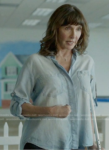 Gail's chambray shirt on Last Man on Earth