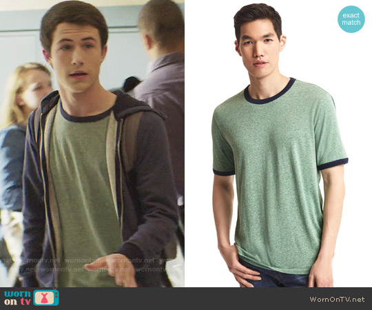 Gap Triblend Tee in Green worn by Clay Jensen (Dylan Minnette) on 13 Reasons Why