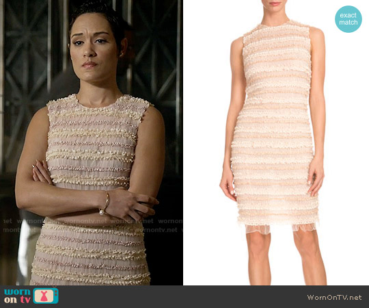 Givenchy Sleeveless Micro-Ruffle Cocktail Dress worn by Grace Gealey on Empire