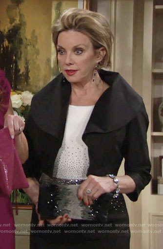 Gloria's black and white rhinestone studded dress on The Young and the Restless