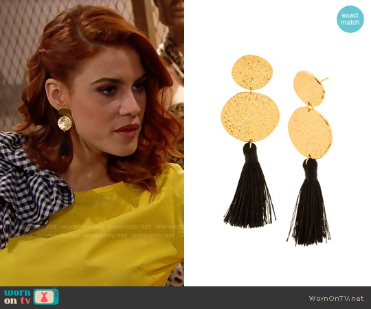 Gorjana Phoenix Earrings worn by Courtney Hope on The Bold & the Beautiful
