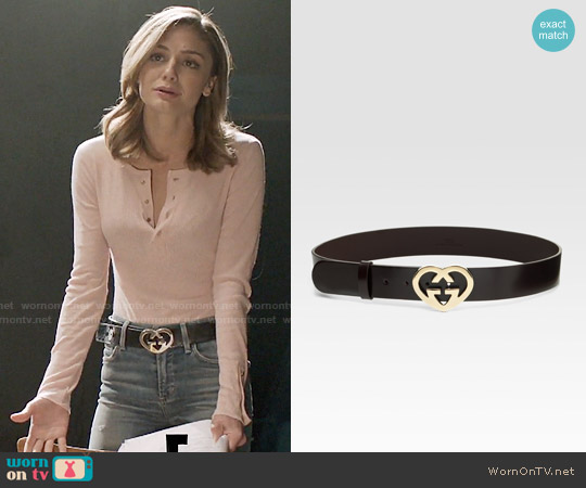 Gucci Heart Belt worn by Megan Morrison on The Arrangement