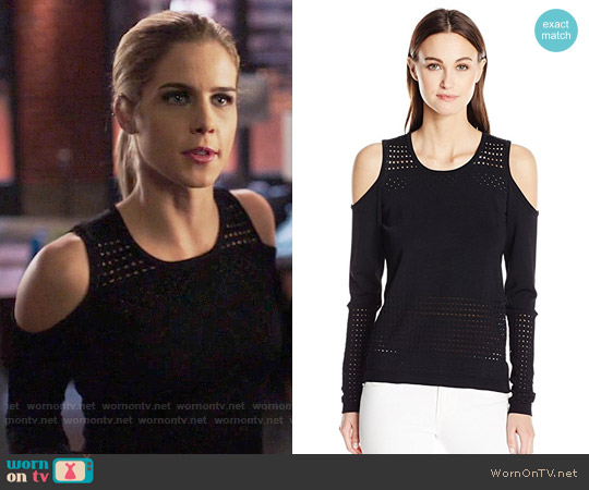 Guess Casandra Pullover worn by Emily Bett Rickards on Arrow