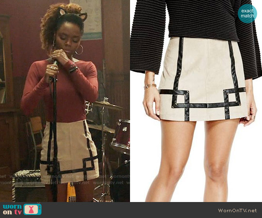 Guess Rosalind Skirt worn by Ashleigh Murray on Riverdale
