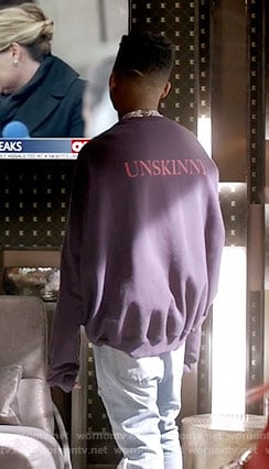 Hakeem's Unskinny sweatshirt on Empire