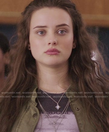 Hannah's Broken Social Scene graphic tee on 13 Reasons Why