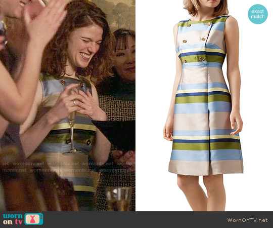 Hobbs London Ada Striped Dress worn by Rose Leslie on The Good Fight