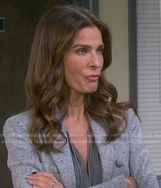 Hope's grey blazer on Days of our Lives