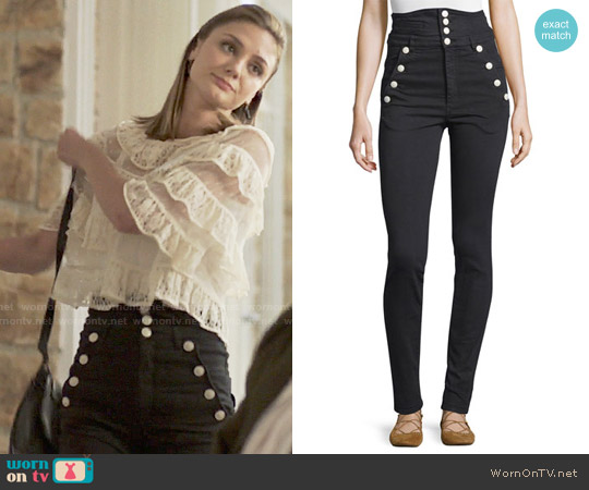 Isabel Marant Marvin Jeans worn by Megan Morrison (Christine Evangelista) on The Arrangement