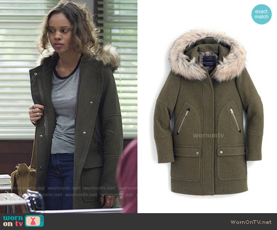 J. Crew Chateau parka in stadium-cloth worn by Jessica Davis on 13 Reasons Why