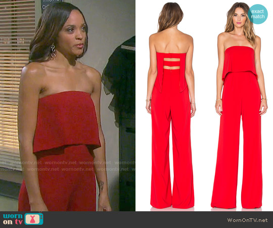 Jay Godfrey Moore Jumpsuit worn by Lani Price (Sal Stowers) on Days of our Lives