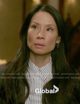 Joan's pinstriped shirt on Elementary