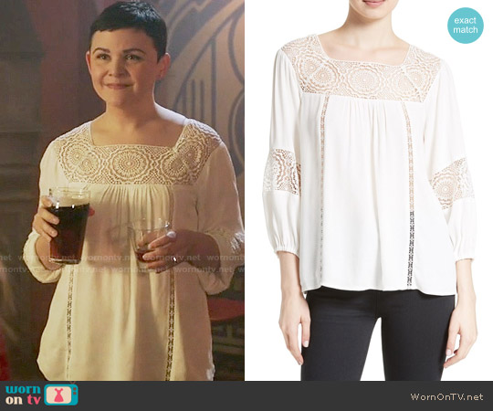 Joie Bellange Blouse worn by Ginnifer Goodwin on OUAT