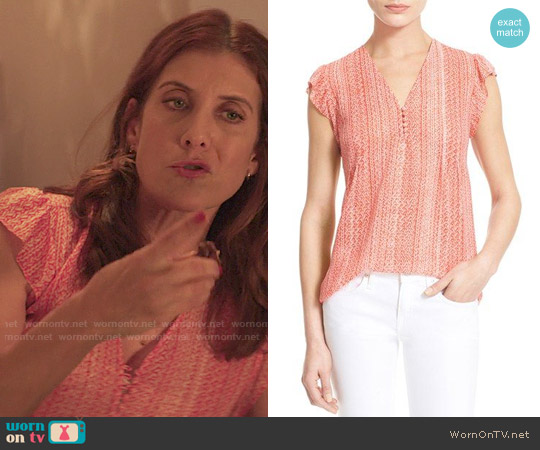 Joie Macy B Top worn by Kate Walsh on 13 Reasons Why