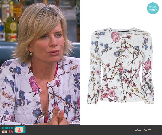 Karen Millen Sakura Cardigan worn by Kayla Brady (Mary Beth Evans) on Days of our Lives