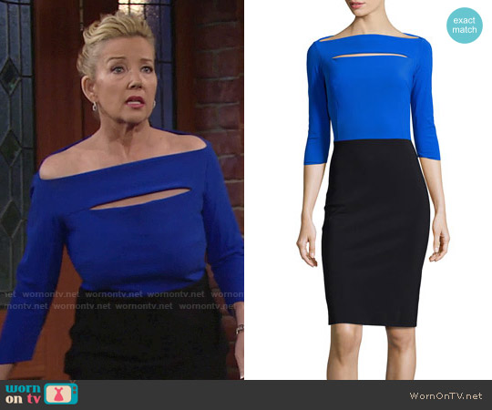 La Petite Robe di Chiara Boni Colorblock Cocktail Dress worn by Melody Thomas-Scott on The Young & the Restless