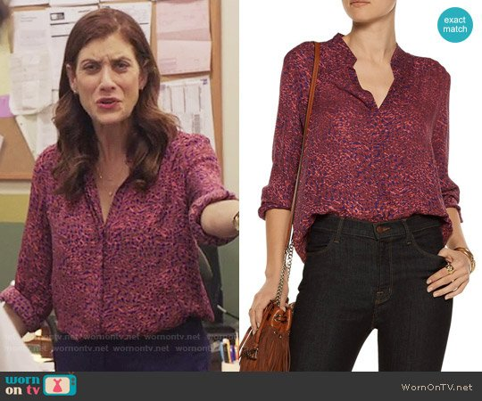 L'Agence Bianca Blouse worn by Olivia Baker (Kate Walsh) on 13 Reasons Why
