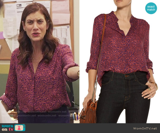 L'Agence Bianca Blouse worn by Kate Walsh on 13 Reasons Why