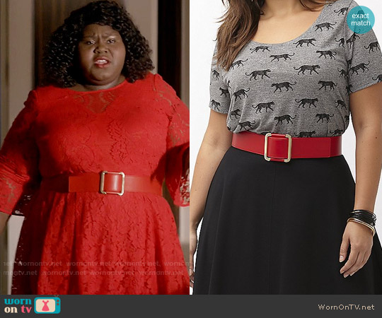 Lane Bryant Metal front stretch belt worn by Becky on Empire