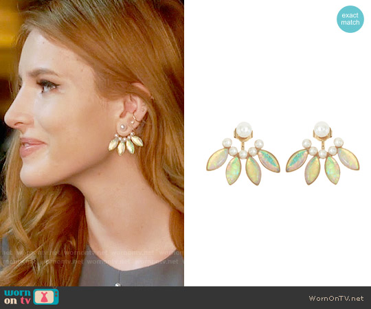 Lionette NY Dyer Ear Jackets in White worn by Bella Thorne on Famous in Love