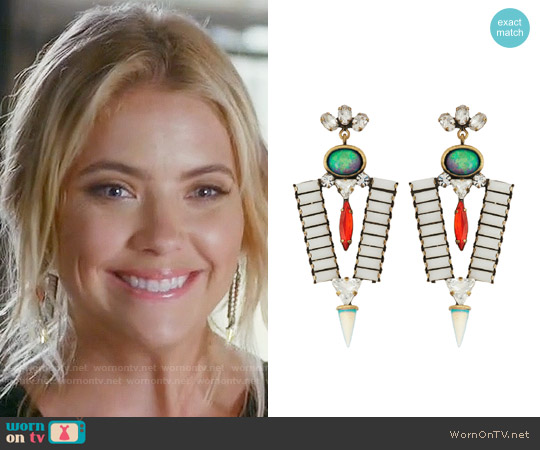 Lionette NY Navada Earrings worn by Hanna Marin on PLL