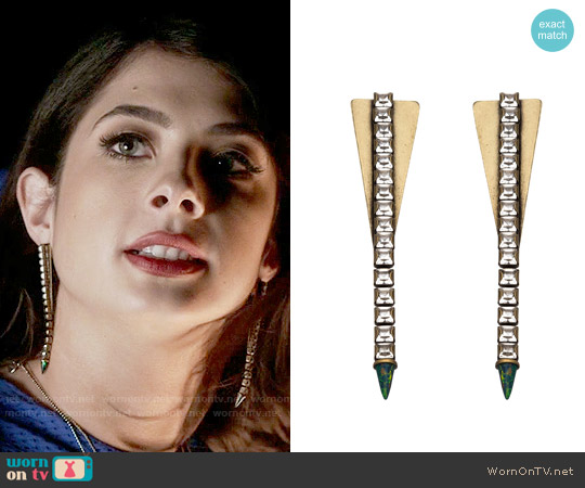 Lionette NY Nimbin Earrings worn by Alexis Gleen on Famous in Love