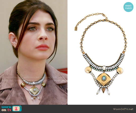 Lionette NY Genesis Necklace worn by Alexis Gleen on Famous in Love
