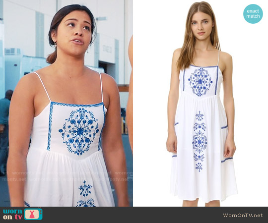 Little White Lies Ophelia Dress worn by Gina Rodriguez on Jane the Virgin