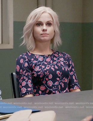 Liv's blue and red floral top on iZombie