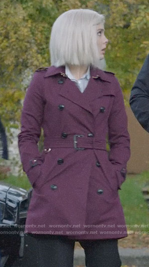 Liv's purple trench coat on iZombie