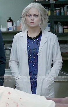 Liv's blue circle print dress on iZombie