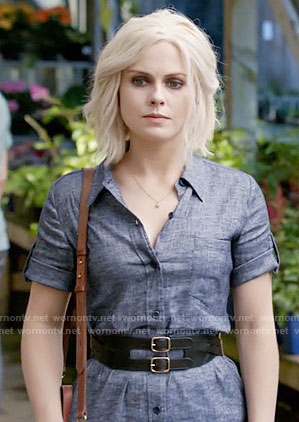 Liv's chambray shirtdress on iZombie