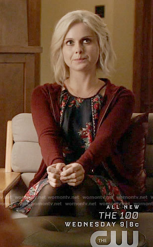 Liv's navy floral dress on iZombie