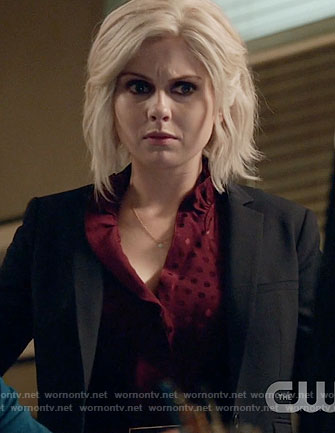 Liv's red polka dot dress on iZombie