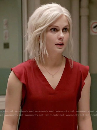 Liv's red v-neck top on iZombie