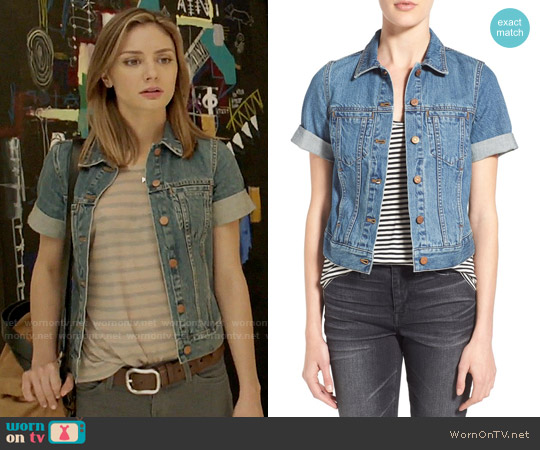 Madewell Summer Denim Jacket worn by Christine Evangelista on The Arrangement