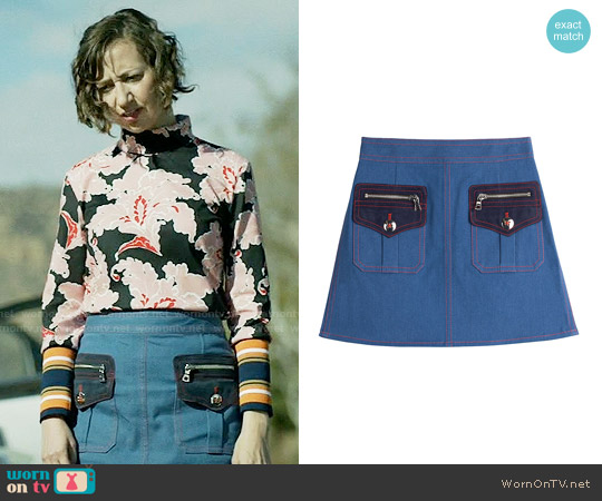 Marc Jacobs Denim Mini Skirt worn by Carol Pilbasian on Last Man On Earth