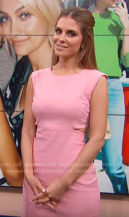 Maria's pink dress with side cutouts on E! News