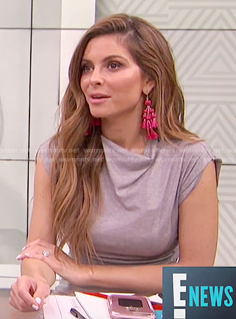 Maria's pink tassel earrings on E! News