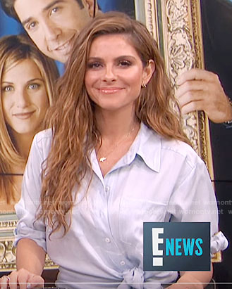 Maria's tie-front shirtdress on E! News