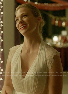 Melissa's wedding dress on Last Man on Earth