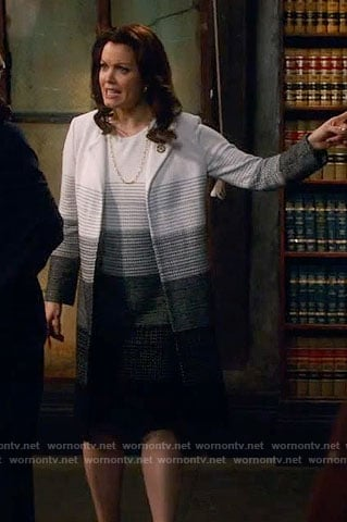Mellie's ombre dress and coat on Scandal