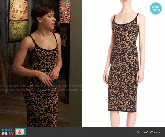 Michael Kors Collection Illusion Lace Tank Dress worn by Cush Jumbo on The Good Fight