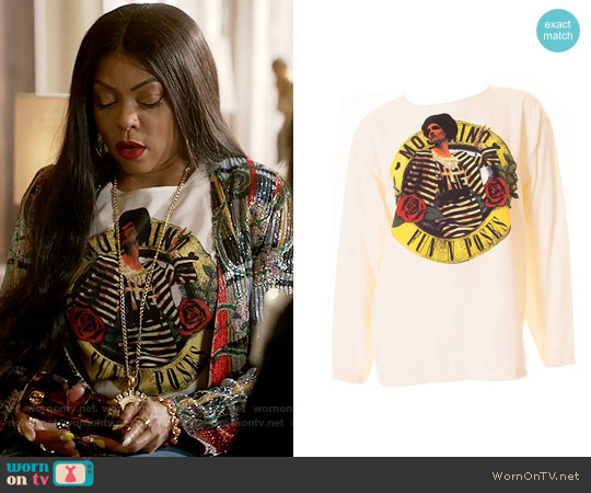 Moschino Witty 'Fun 'n Poses' Top worn by Cookie Lyon (Taraji P. Henson) on Empire