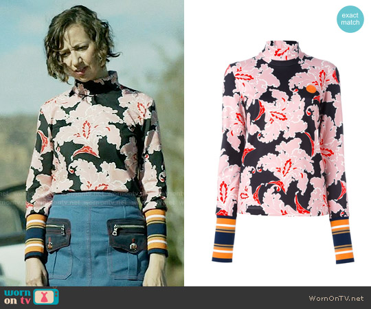 MSGM Floral Print Jumper worn by Kristen Schaal on Last Man On Earth